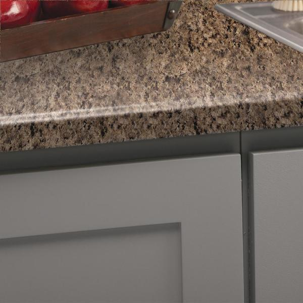 Hampton Bay 10 Ft Laminate Countertop In Milano Brown With Tempo Edge And Integrated Backsplash 472560t10 The Home Depot