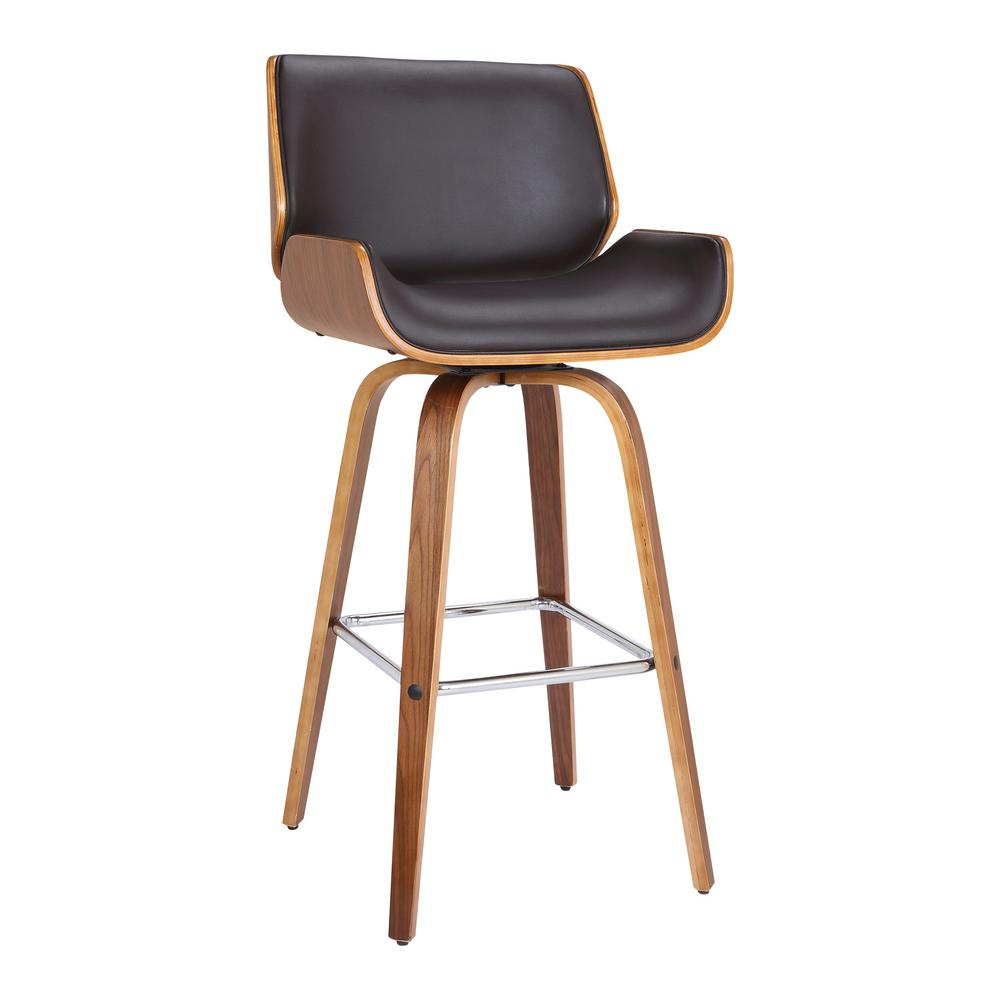 Tyler 30 in. Brown Swivel Bar Stool