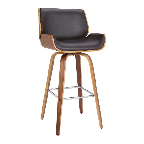 Armen Living Tyler 30 in. Brown Swivel Bar Stool LCTYBABRWA30