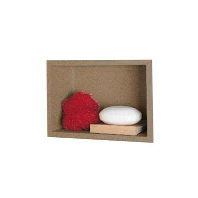 4-1/8 in. x 7-1/2 in. x 10-3/4 in. Recessed Accessory Shelf in Barley
