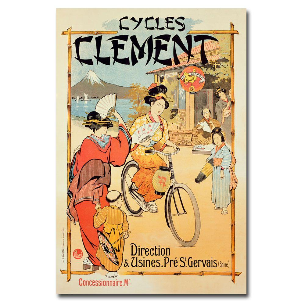 22 in. x 32 in. Cycles Clement Canvas Art