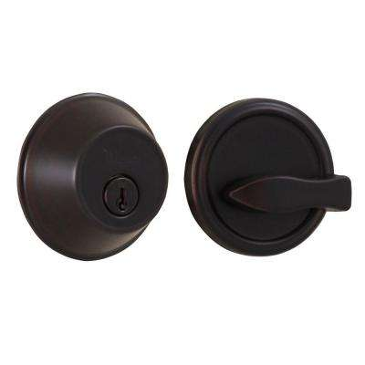 Essentials Single Cylinder Oil-Rubbed Bronze Deadbolt
