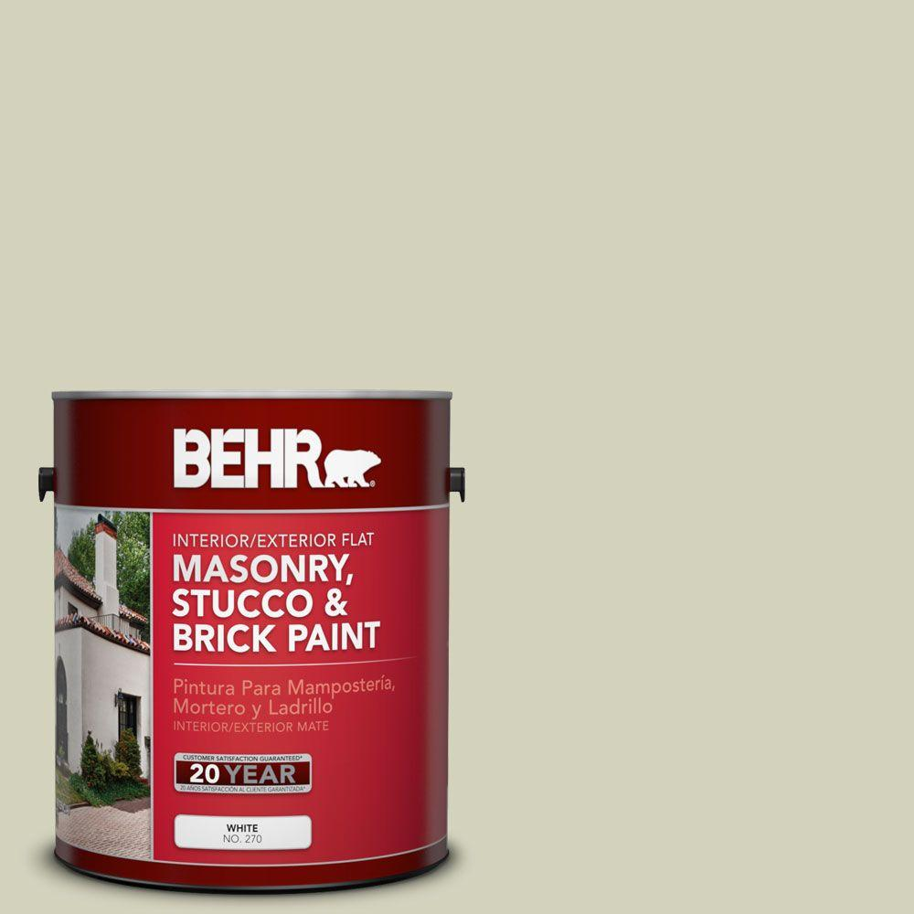BEHR Premium 1-gal. #MS-56 Amazon Mist Flat Interior/Exterior Masonry, Stucco and Brick Paint