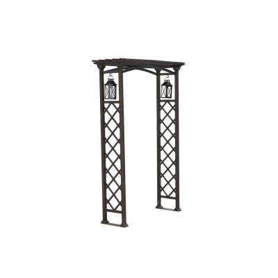 80 in. x 48 in. Metal Arbor with Lanterns