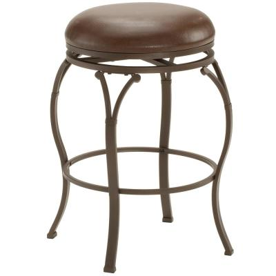 Lekeview 30 in. Brown Backless Bar Stool