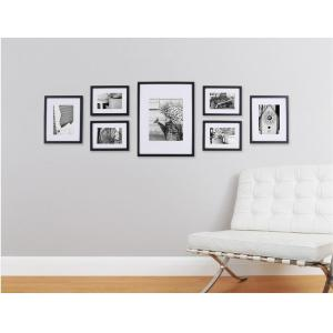 Pinnacle 7-Opening Matted Picture Frame Collage Set by Pinnacle