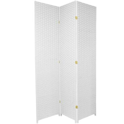 7 ft. White 3-Panel Room Divider
