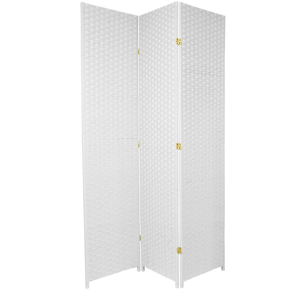 7 foot room divider foot tall ft white 3panel room divider dividerss7fiberwht3p the home depot