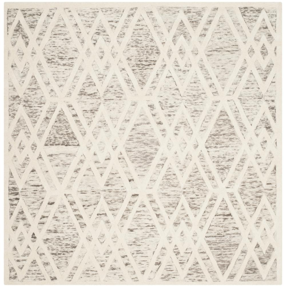 Cambridge Light Brown/Ivory 6 ft. x 6 ft. Square Area Rug