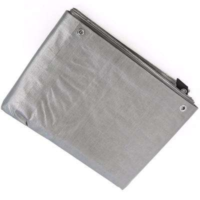 12 ft. x 16 ft. Silver Heavy Duty All-Weather Proof Poly Tarpaulin Tent Cover Tarp