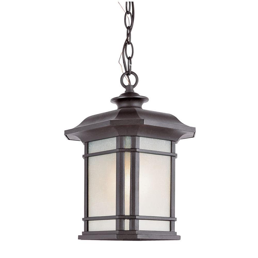 1-Light Outdoor Hanging Black Lantern