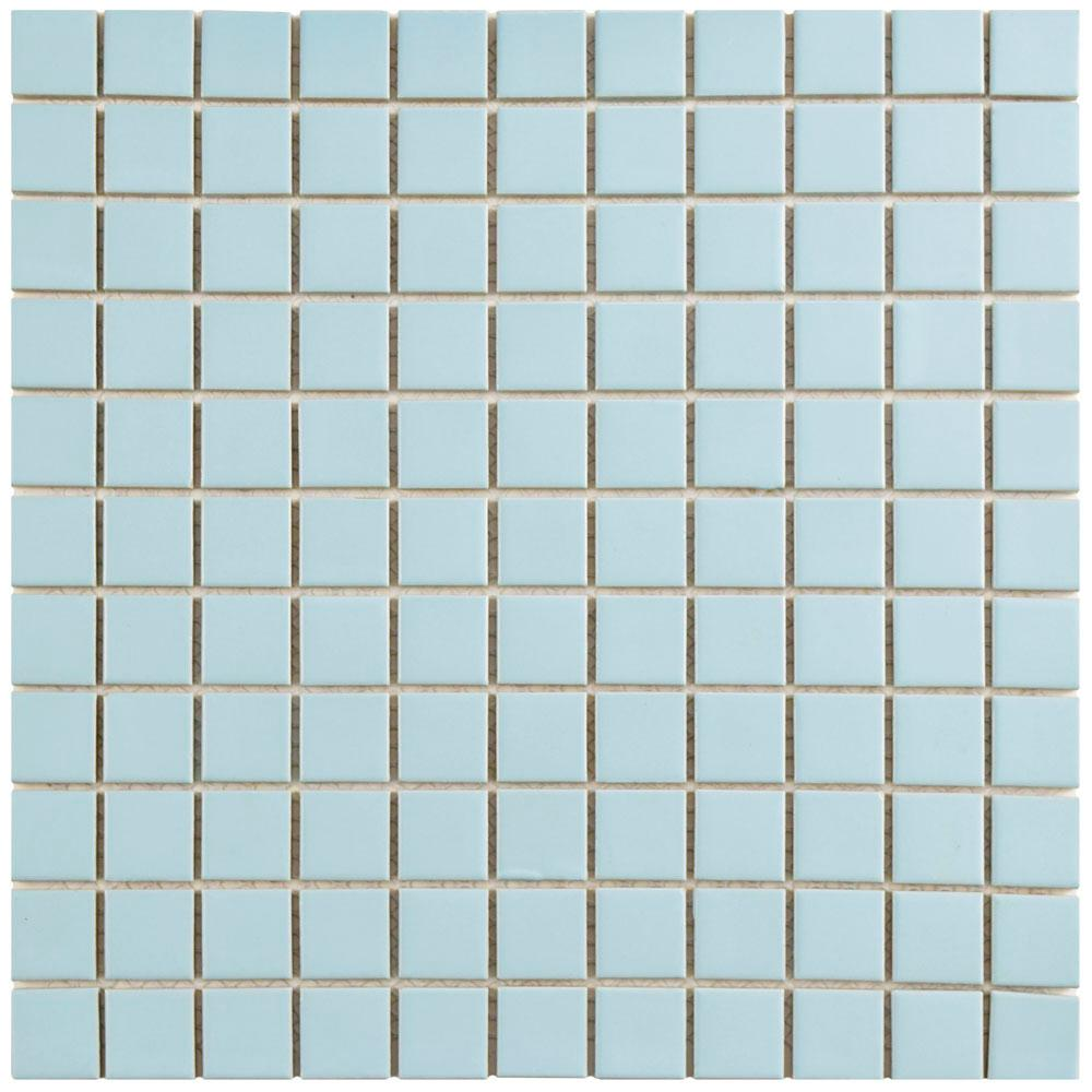 Merola Tile Metro Square Matte Light Blue 11 3 4 In X