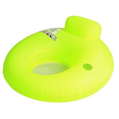 48 in. Neon Yellow Inflatable Water Sofa