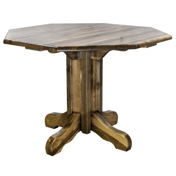 Homestead Collection Early American Center Pedestal Table