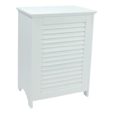 Contemporary Country Laundry Hamper with Indoor Louvered Front Panel