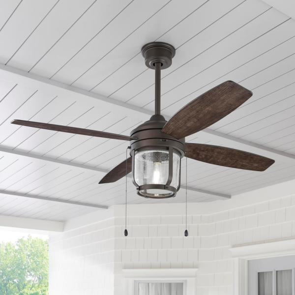Home Decorators Collection Northampton 52 In Led Indoor Outdoor Espresso Bronze Ceiling Fan With Light Am592 Eb The Home Depot