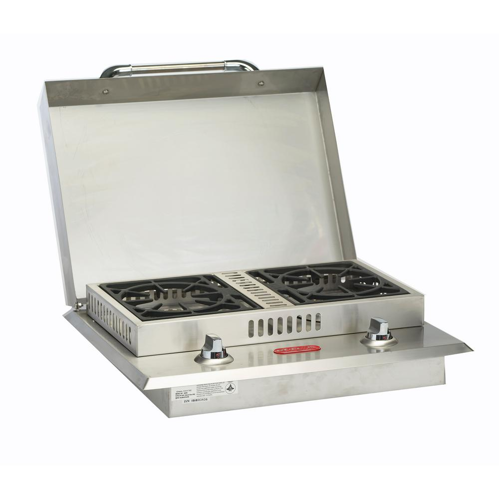 Stainless Steel Built-In Natural Gas Double Side Burner
