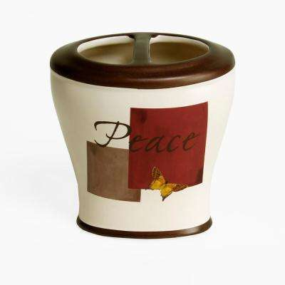 Grace Free Standing Stoneware Toothbrush Holder