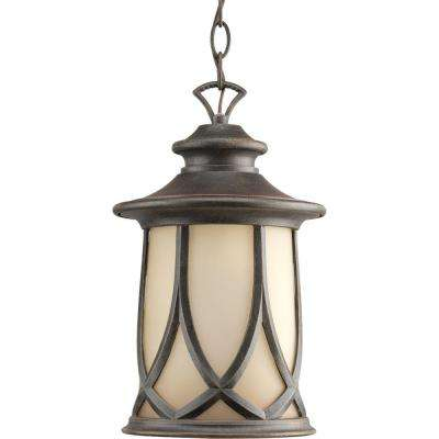 Resort Collection 1-Light Aged Copper Hanging Lantern