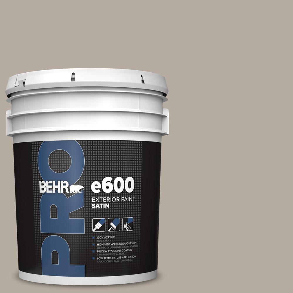 5 gal. #PPU18-13 Perfect Taupe Satin Enamel Exterior Paint