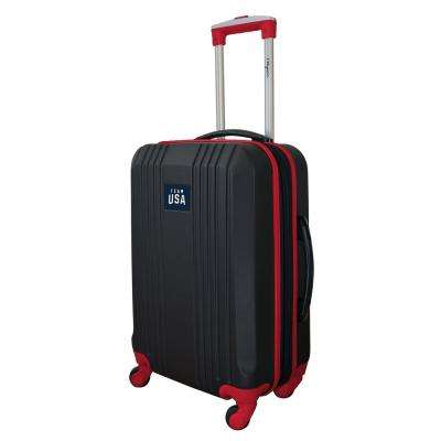 Olympics Team USA Olympics Luggage Carry-On 21 in. 100% ABS Hardcase 2-Tone Spinner