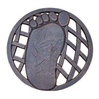 13 in. x 13 in. Circular Left Foot Aluminum Step Stone