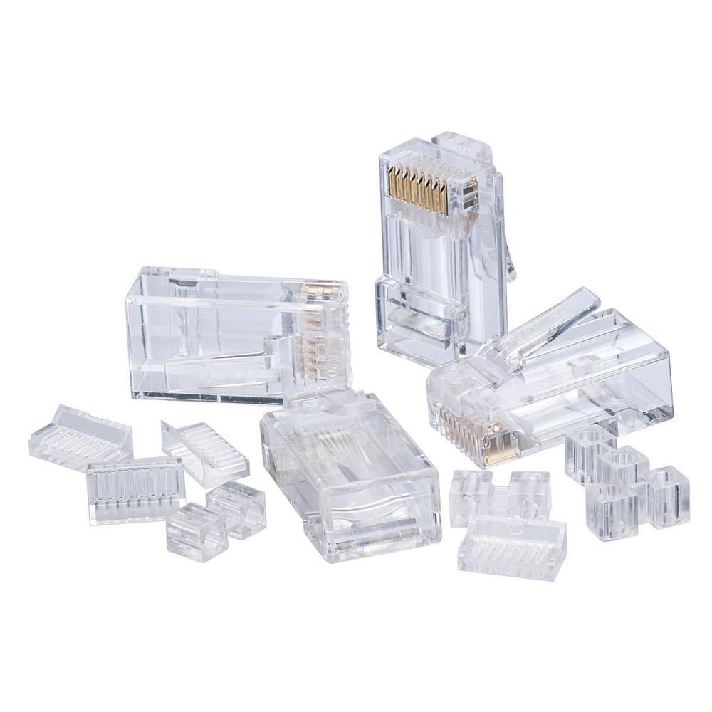 Ideal Rj45 Cat6 Modular Plugs 25 Pack 85 366 The Home Depot Cat 6e Wiring Diagram