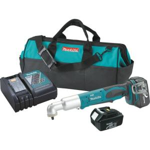 Makita 18-Volt LXT Lithium-Ion Cordless 3/8 inch Angle Impact Wrench Kit by Makita
