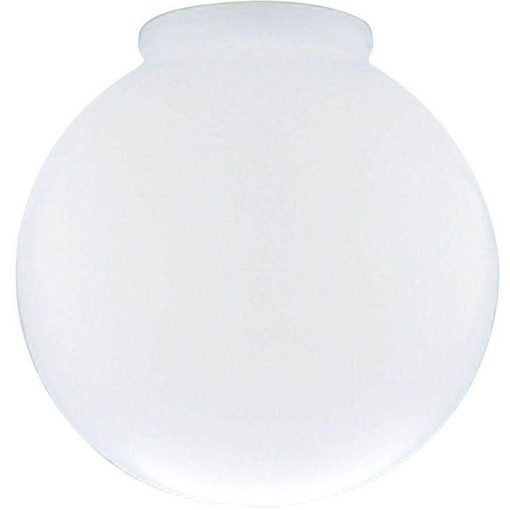 Westinghouse 6 in. White Polyethylene Globe with 3 in. Fitter