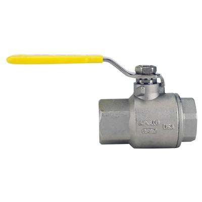 3/4 in. Stainless Steel FNPT x FNPT Full-Port Ball Valve
