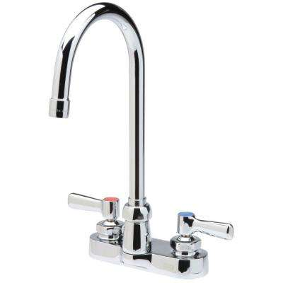 4 in. Centerset 2-Handle Gooseneck Bathroom Faucet in Chrome