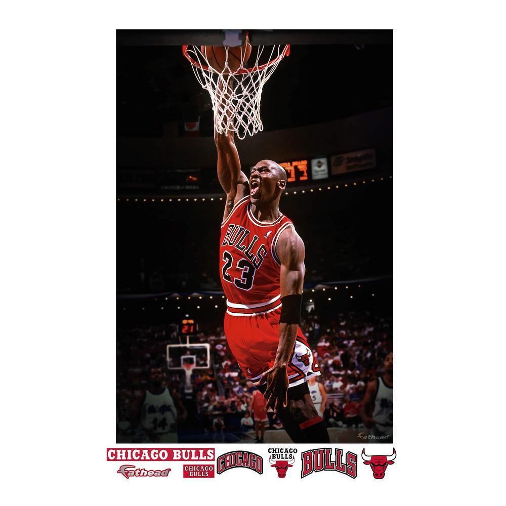 Fathead 72 in. H x 48 in. W Michael Jordan Mural Wall Mural-23-23062 ... 13d54c2b2