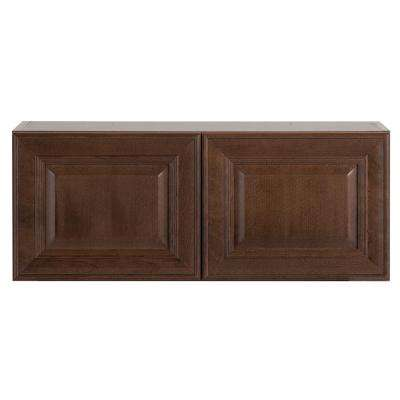 Benton Assembled 30x12x12 in. Wall Cabinet in Butterscotch