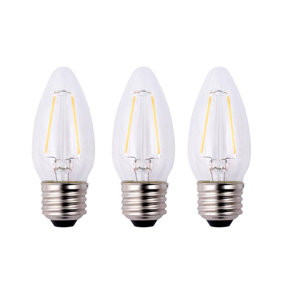 40-Watt Equivalent B11 Dimmable Clear Filament Vintage Style LED Light Bulb,