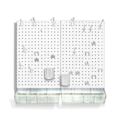 22 in. H x 27 in. W x .125 D Acrylic Pegboard Kit (70 Pieces)