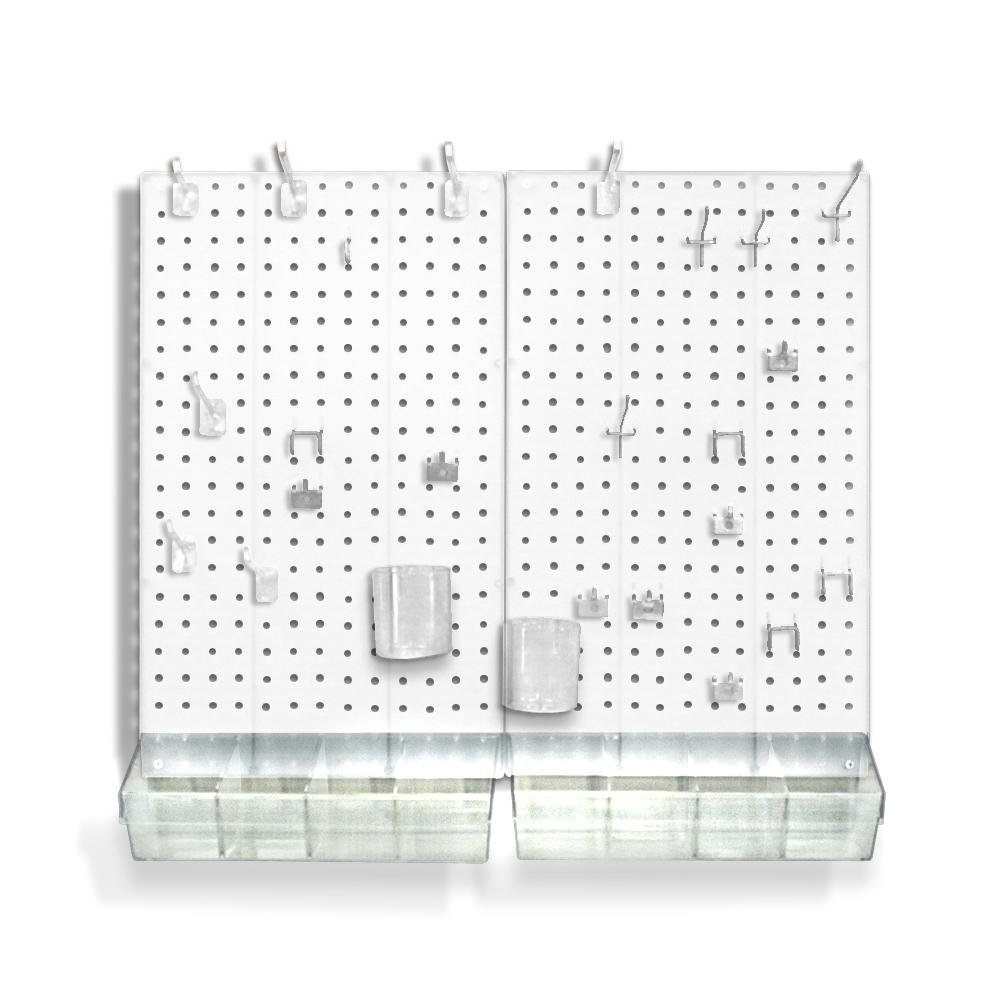 Azar displays 22 in h x 27 in w x 125 d acrylic for Craft room pegboard accessories