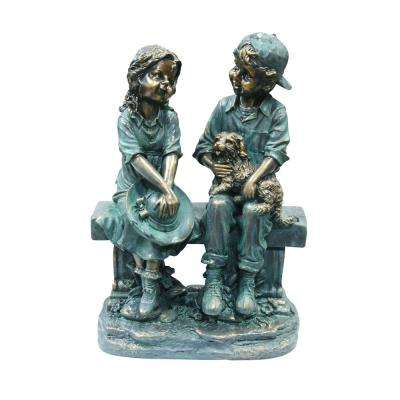 Classic Child Garden Statues Outdoor Decor The Home Depot