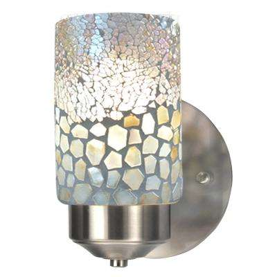 Alps 1-Light Brushed Nickel Mosaic Wall Sconce