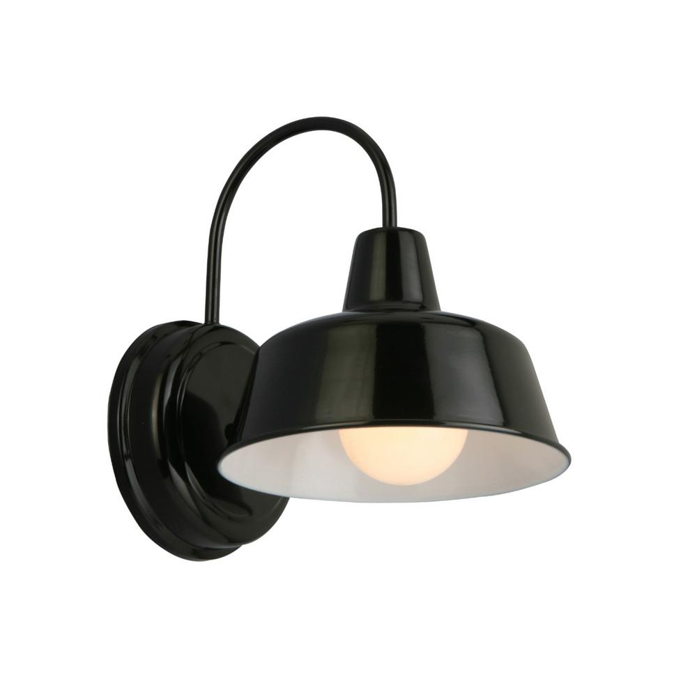 Design House Mason 1 Light Black Outdoor Wall Sconce 579367   The Home Depot