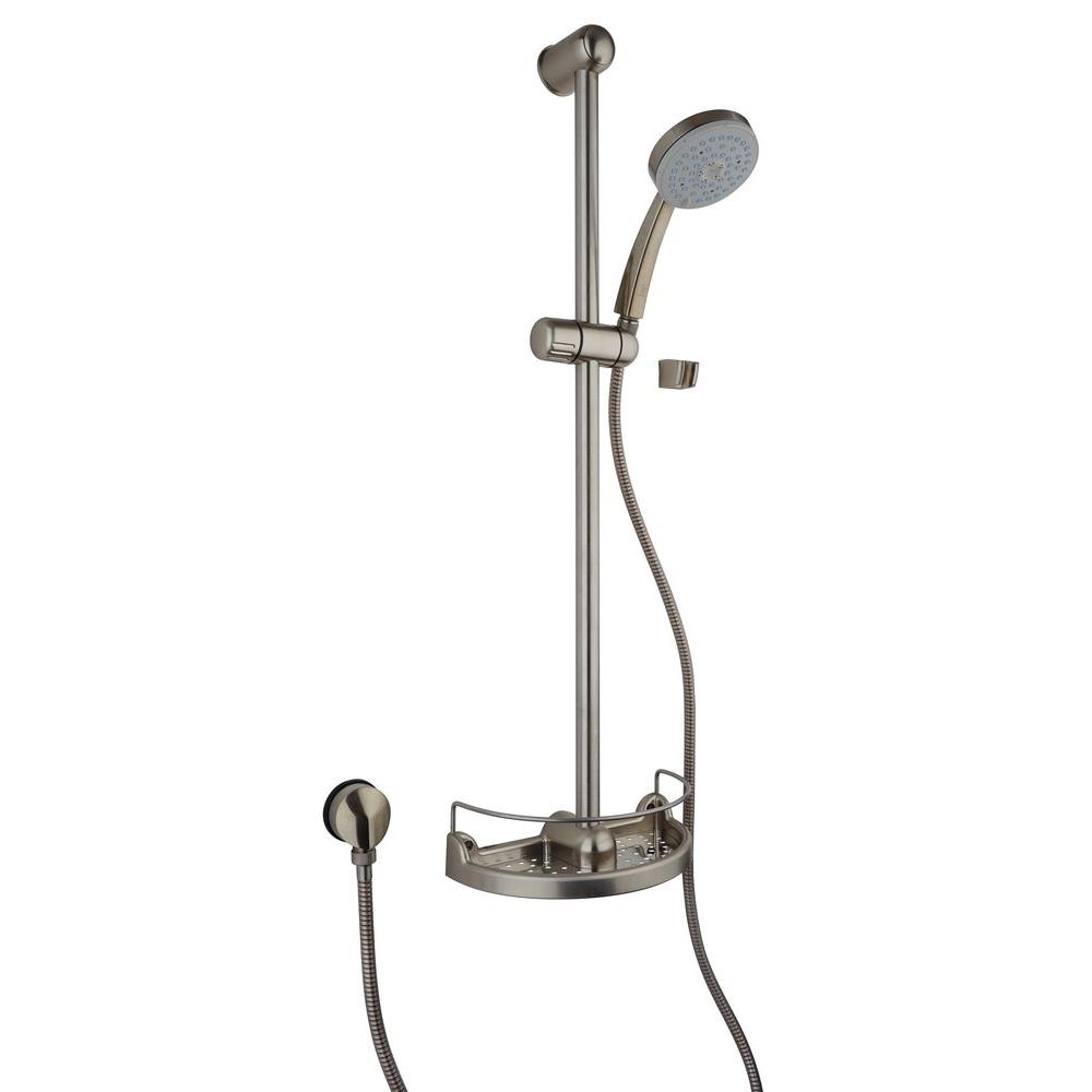 LaToscana Water Harmony Slide Bar Kit With Shower Head And Soap  Holder 50PW124EX   The Home Depot