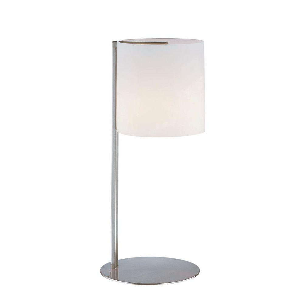 18 in. Steel Table Lamp with Frost Glass Shade