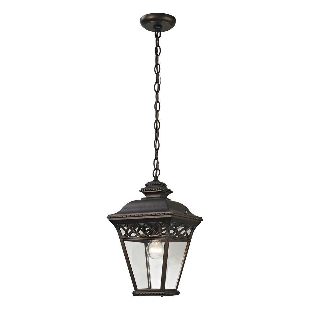 Mendham 1-Light Hazelnut Bronze Outdoor Pendant
