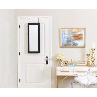 Space Saver Mirrored Jewelry Armoire - Black