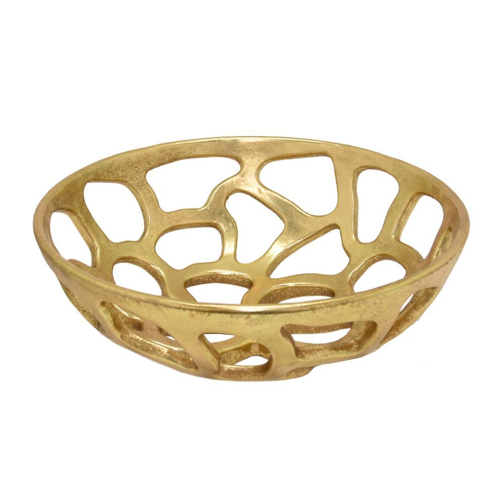 Gold Pierced Bowl
