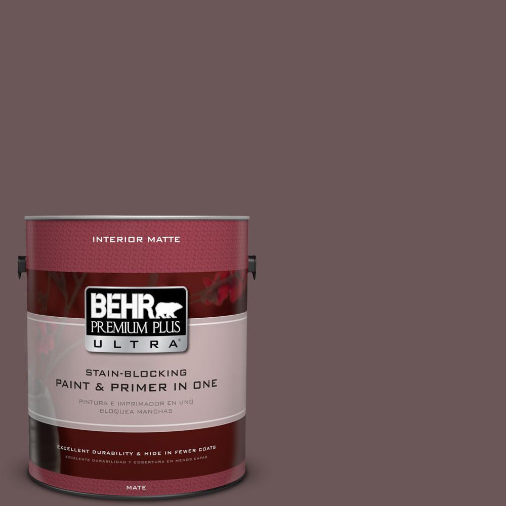1 gal. #N120-7 Grand Plum Matte Interior Paint