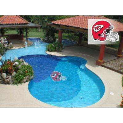 NFL Kansas City Chiefs 29 in. x 29 in. Small Pool Graphic
