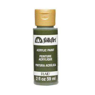 2 oz. Olive Green Acrylic Craft Paint