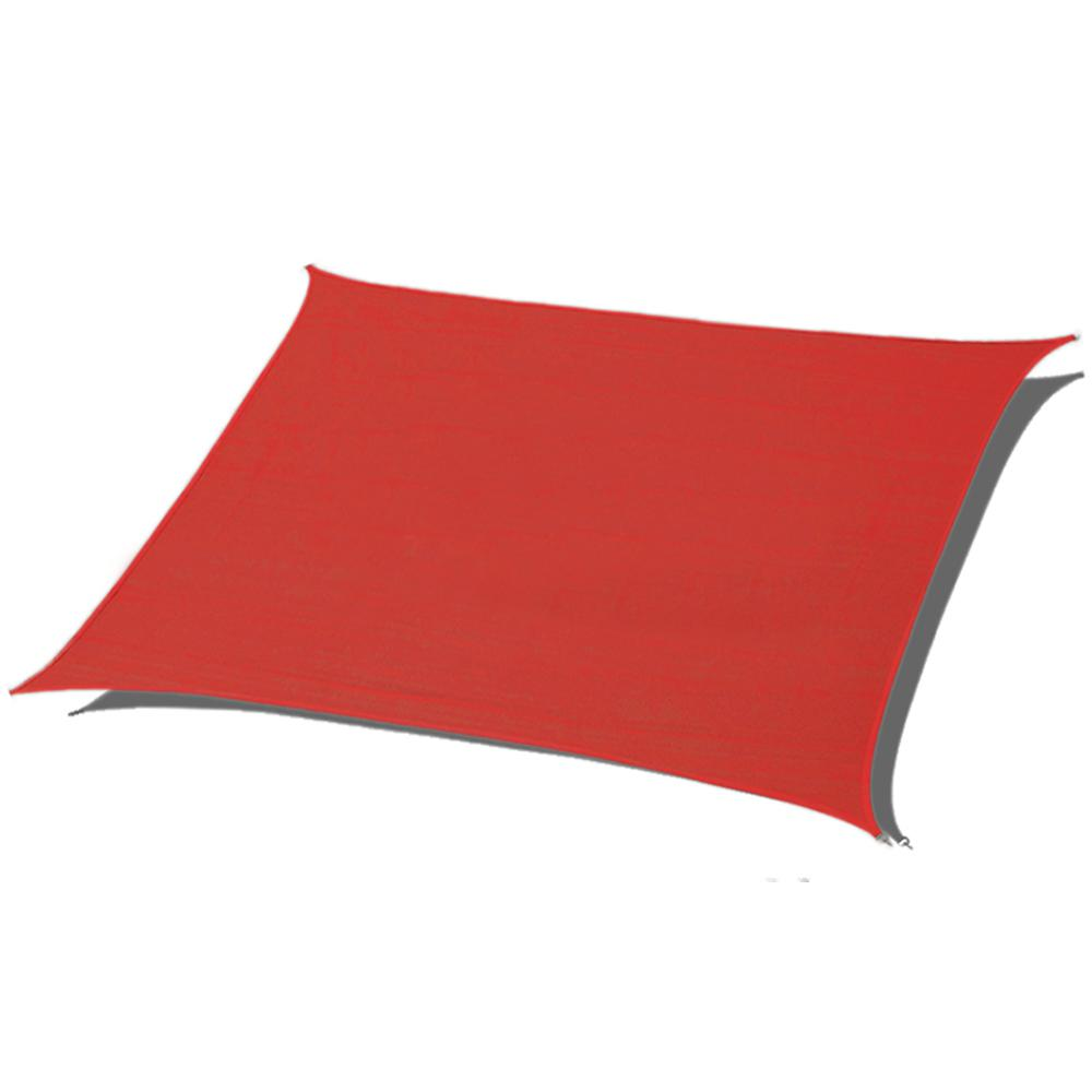 Red Rectangle Sun Shade Sail 185 Gsm Uv Block For Patio Deck Yard And Outdoor Activities