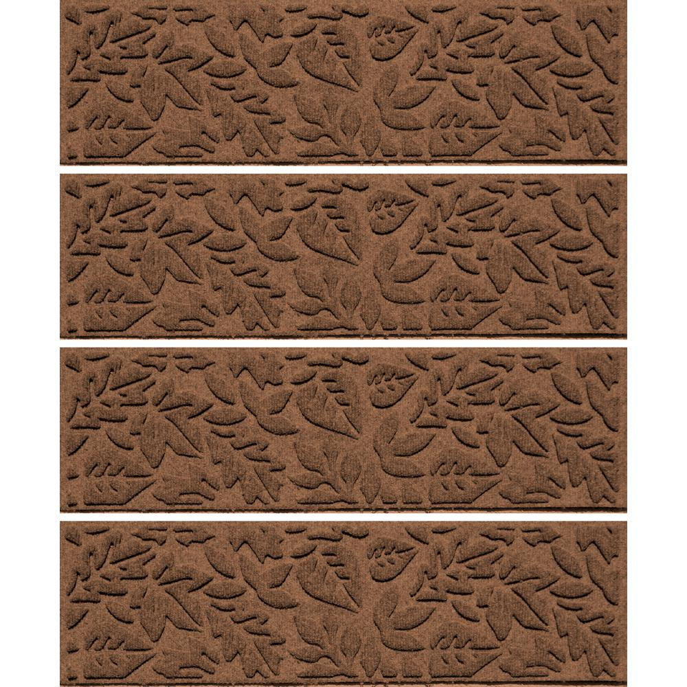 Dark Brown 8.5 In.x 30 In. Fall Day Stair Tread Cover