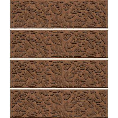 Dark Brown 8.5 in.x 30 in. Fall Day Stair Tread Cover (Set of 4)